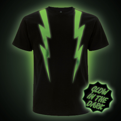 Glow in the Dark Lightning Strikes T-shirt
