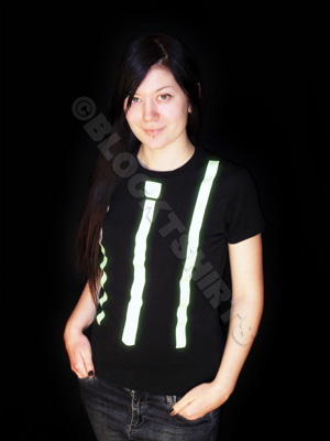 Glow in the dark Tie and Braces T-Shirt