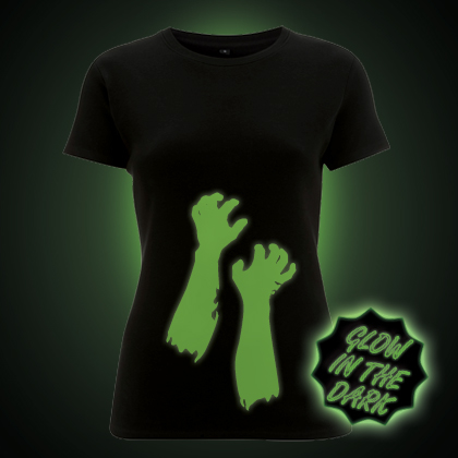 Glow in the Dark Zombie Arms Women's Fit T-Shirt