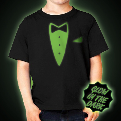 Glow in the dark Children's Tuxedo T-Shirt